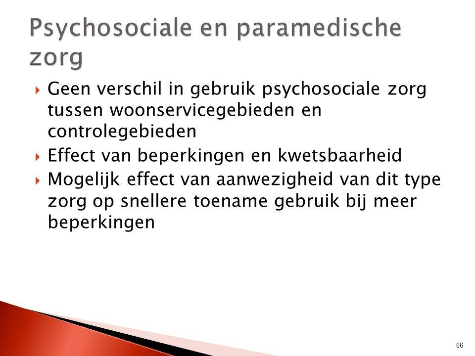 Psychosociale en paramedische zorg