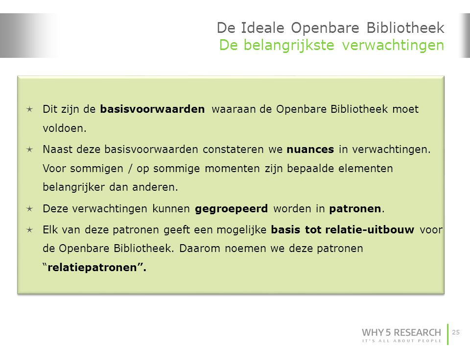 De Ideale Openbare Bibliotheek De belangrijkste verwachtingen