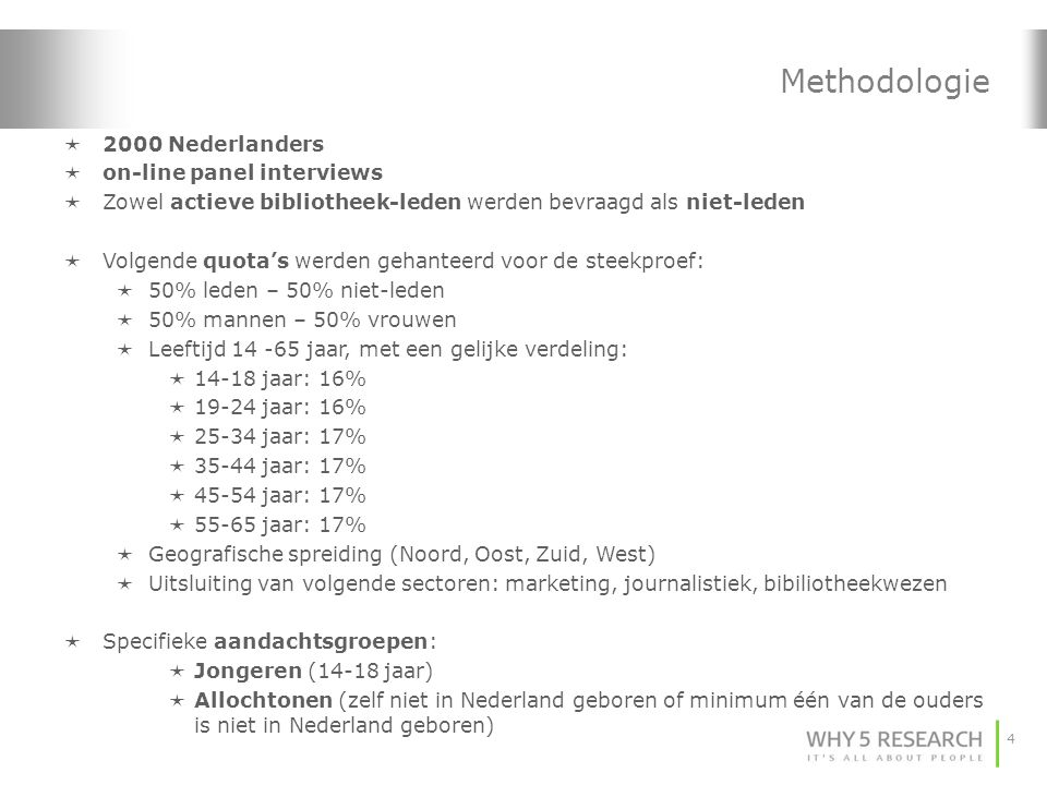 Methodologie 2000 Nederlanders on-line panel interviews