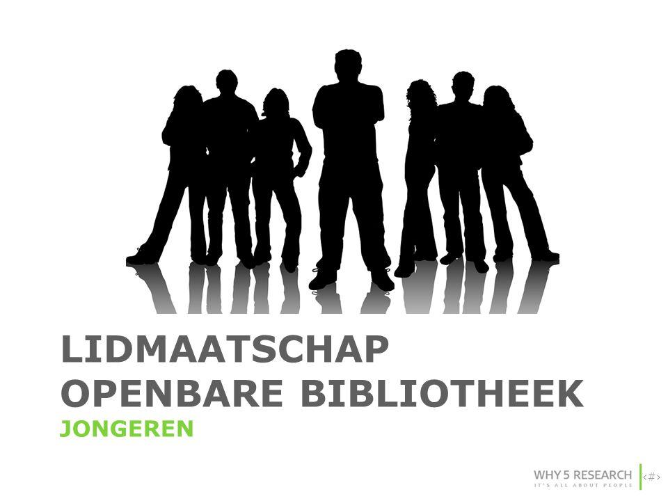 LIDMAATSCHAP OPENBARE BIBLIOTHEEK JONGEREN