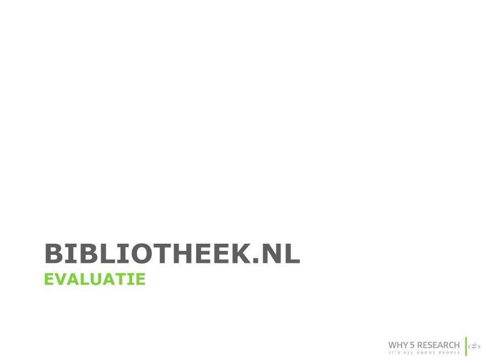 Bibliotheek.nl evaluatie
