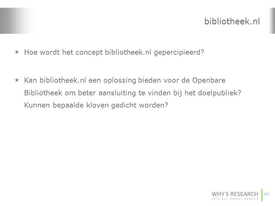 bibliotheek.nl Hoe wordt het concept bibliotheek.nl gepercipieerd
