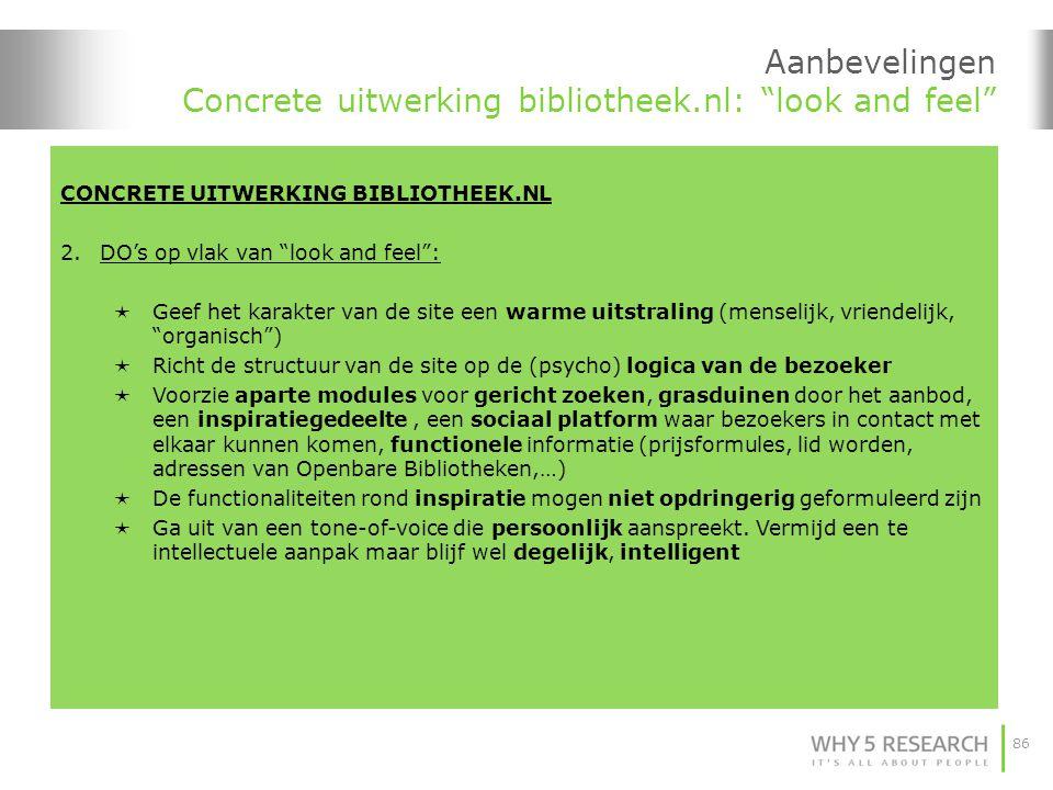 Aanbevelingen Concrete uitwerking bibliotheek.nl: look and feel