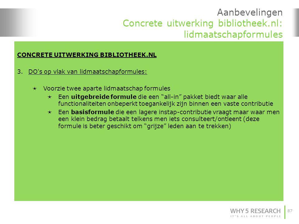 Aanbevelingen Concrete uitwerking bibliotheek.nl: lidmaatschapformules
