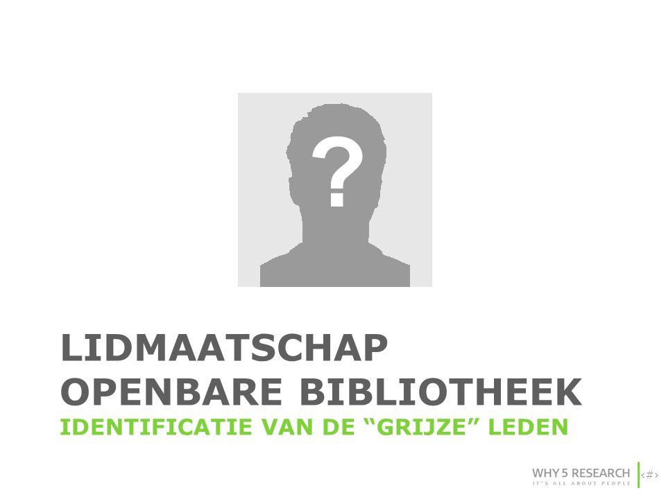 LIDMAATSCHAP OPENBARE BIBLIOTHEEK IDENTIFICATIE VAN DE grijze leden