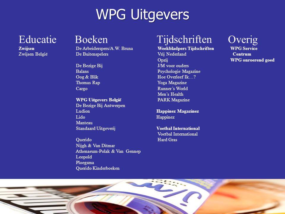 WPG Uitgevers Educatie Boeken Tijdschriften Overig Zwijsen