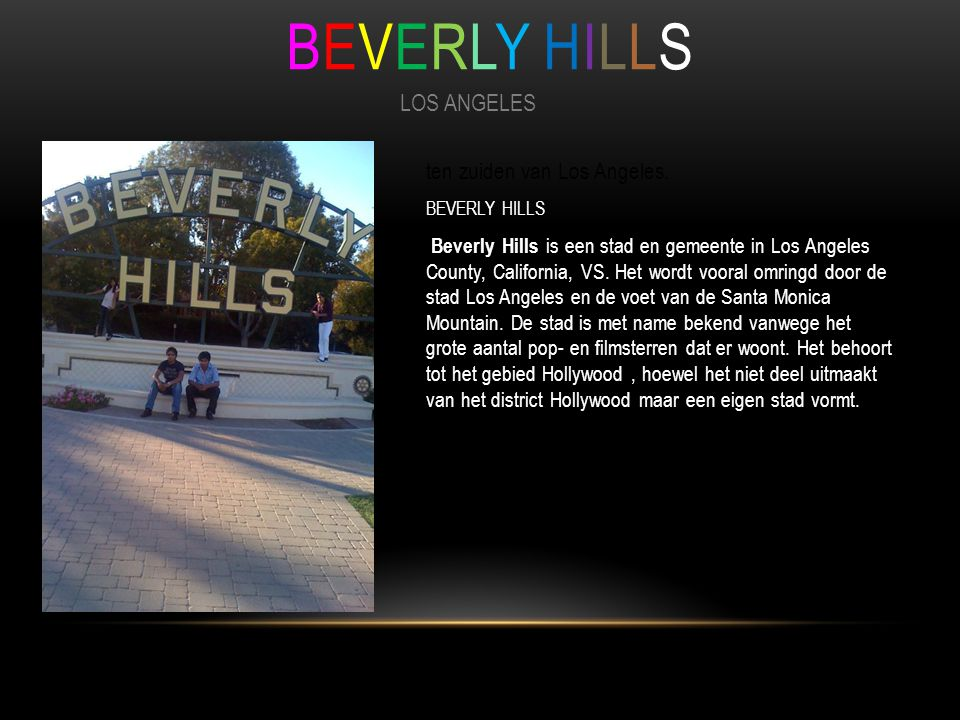 BEVERLY HILLS LOS ANGELES ten zuiden van Los Angeles.