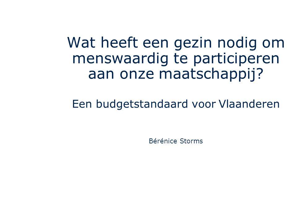 Een budgetstandaard voor Vlaanderen
