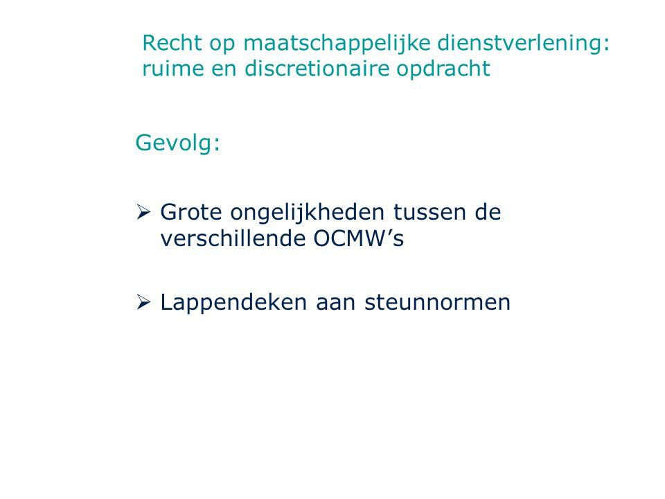 Grote ongelijkheden tussen de verschillende OCMW's