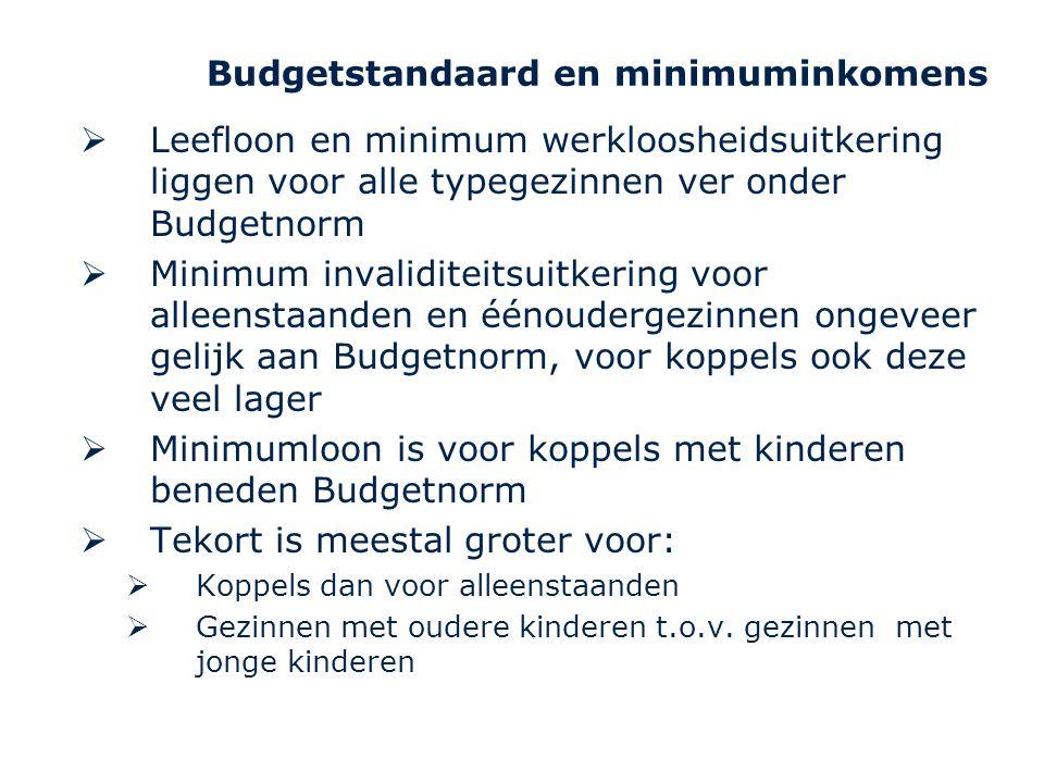 Budgetstandaard en minimuminkomens