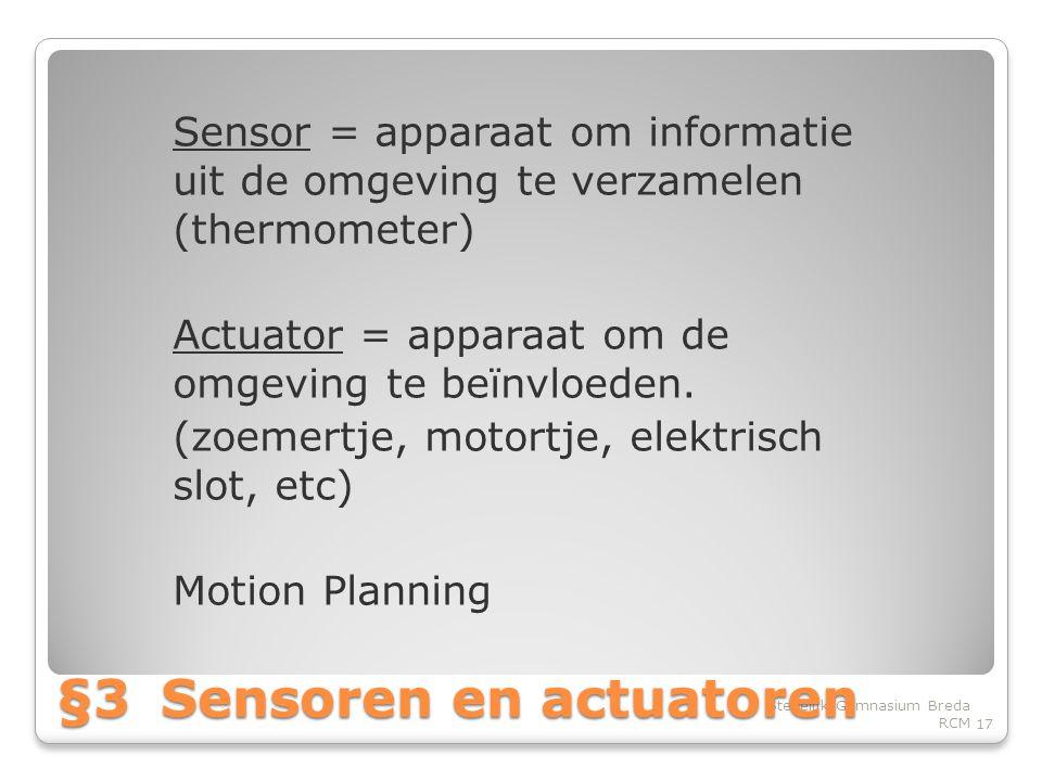 §3 Sensoren en actuatoren