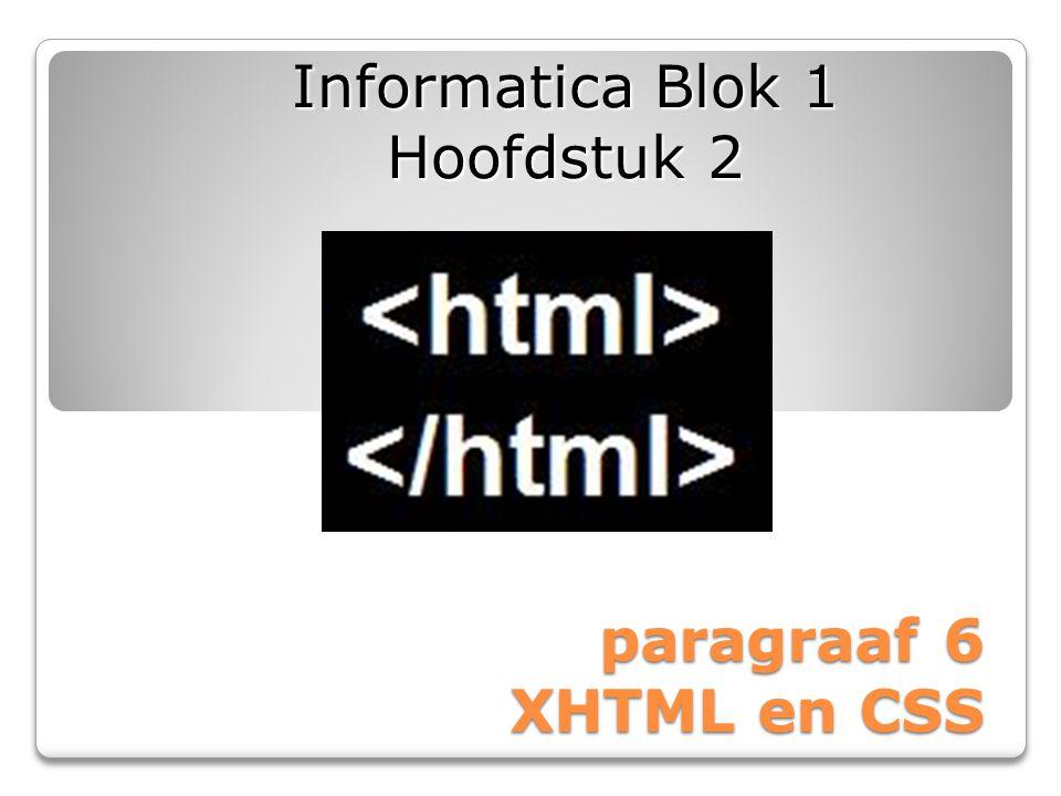 Informatica Blok 1 Hoofdstuk 2