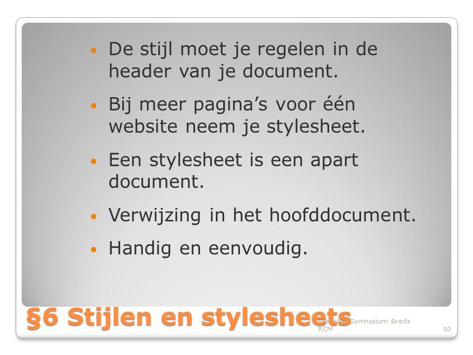§6 Stijlen en stylesheets