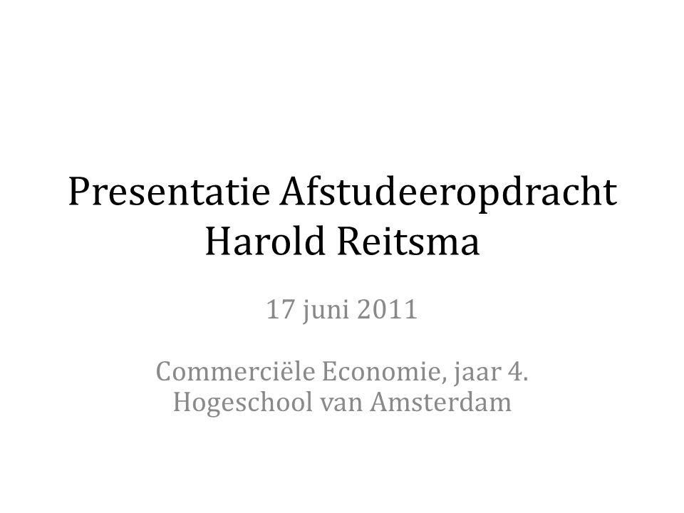 Presentatie Afstudeeropdracht Harold Reitsma