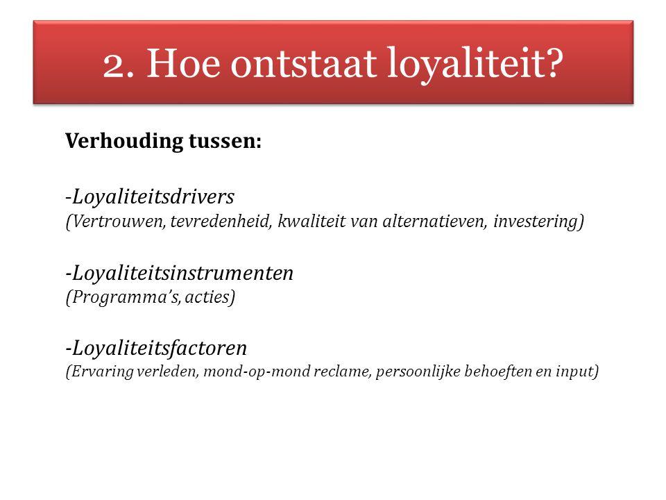 2. Hoe ontstaat loyaliteit
