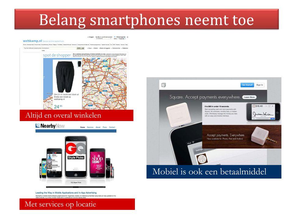 Belang smartphones neemt toe