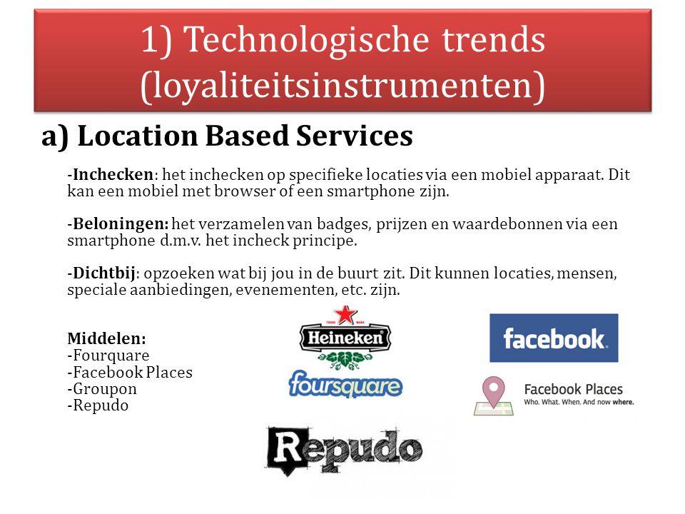 1) Technologische trends (loyaliteitsinstrumenten)