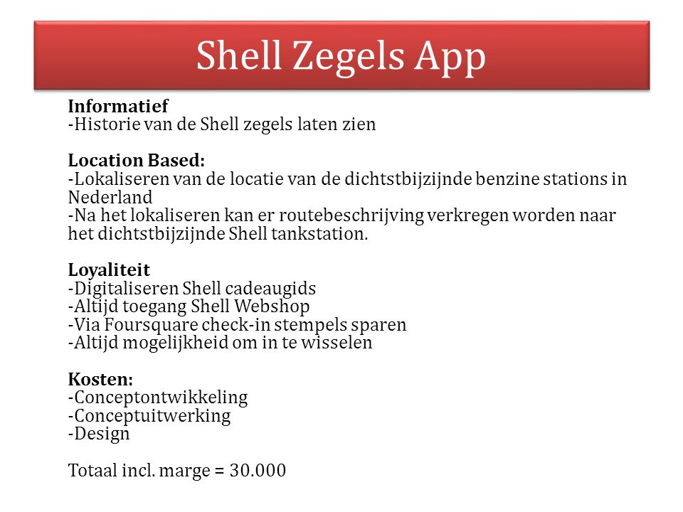 Shell Zegels App