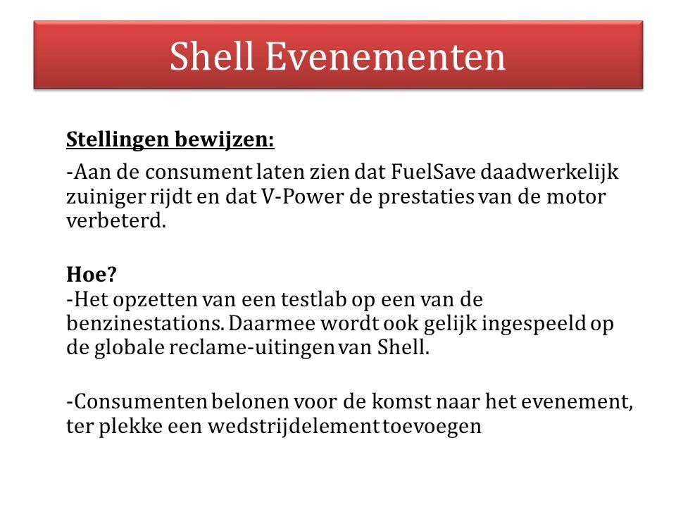 Shell Evenementen Stellingen bewijzen: