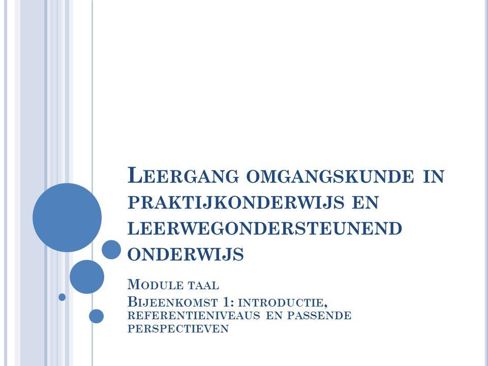 Leergang omgangskunde in praktijkonderwijs en leerwegondersteunend onderwijs