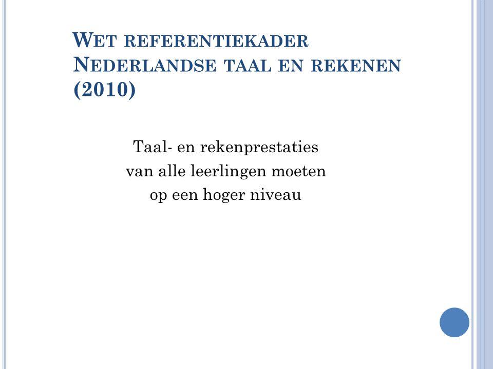 Wet referentiekader Nederlandse taal en rekenen (2010)