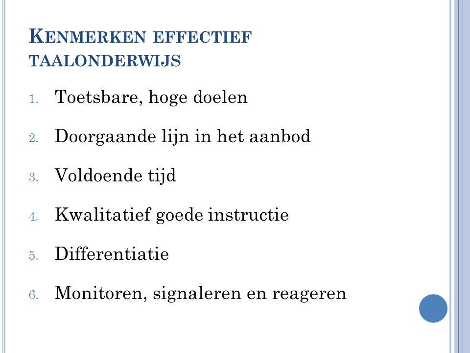 Kenmerken effectief taalonderwijs