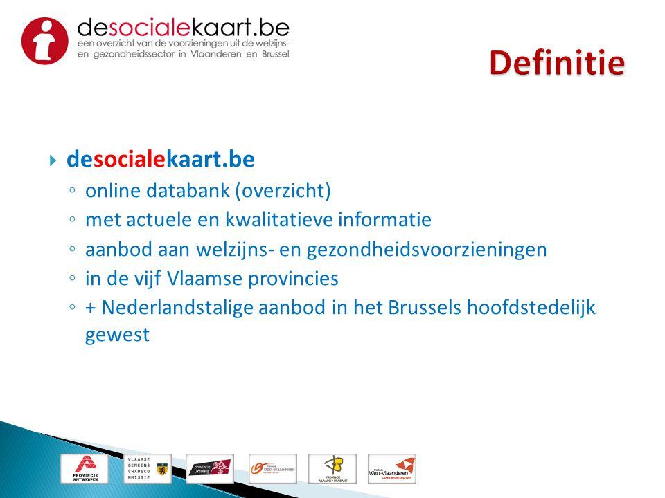 Definitie desocialekaart.be online databank (overzicht)