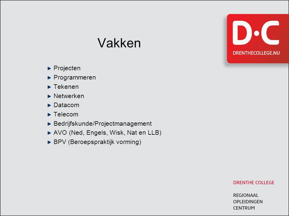 Vakken Projecten Programmeren Tekenen Netwerken Datacom Telecom