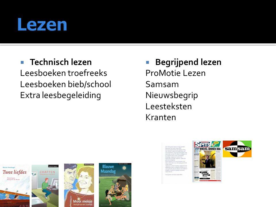 Lezen Technisch lezen Leesboeken troefreeks Leesboeken bieb/school