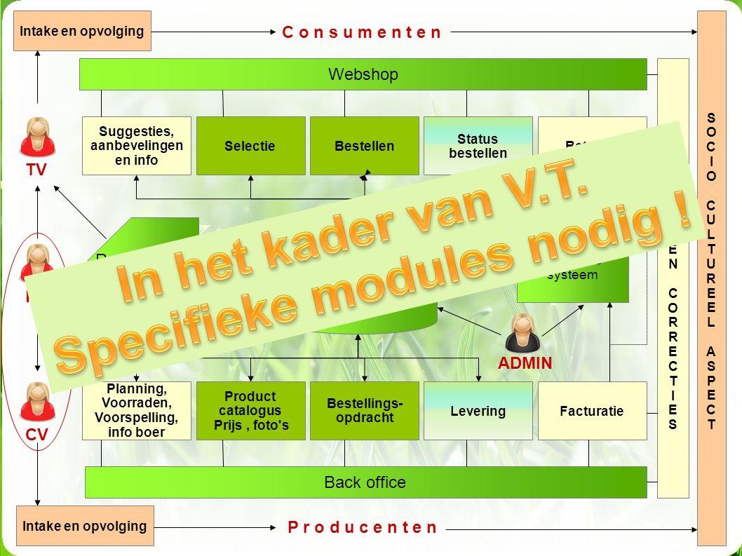 In het kader van V.T. Specifieke modules nodig !