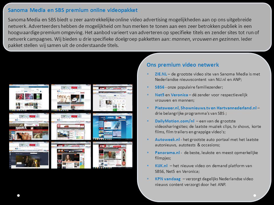 Sanoma Media en SBS premium online videopakket
