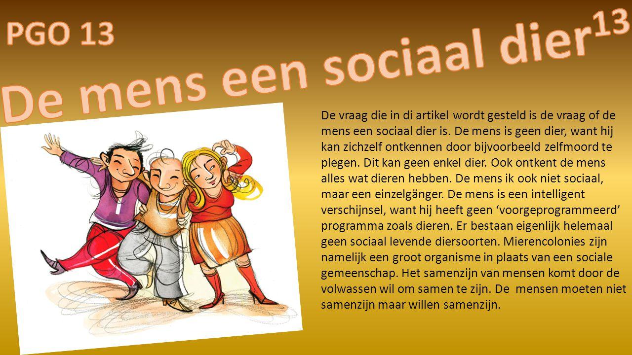 De mens een sociaal dier13