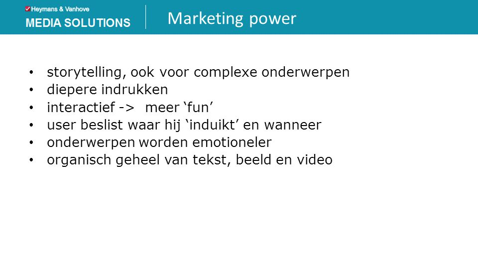 Marketing power storytelling, ook voor complexe onderwerpen