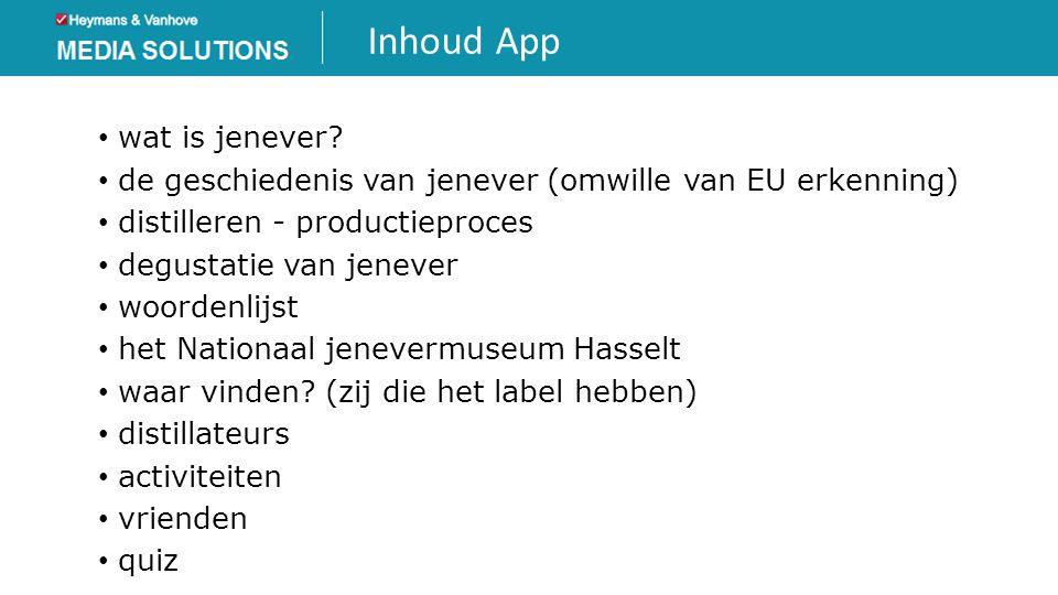 Inhoud App wat is jenever