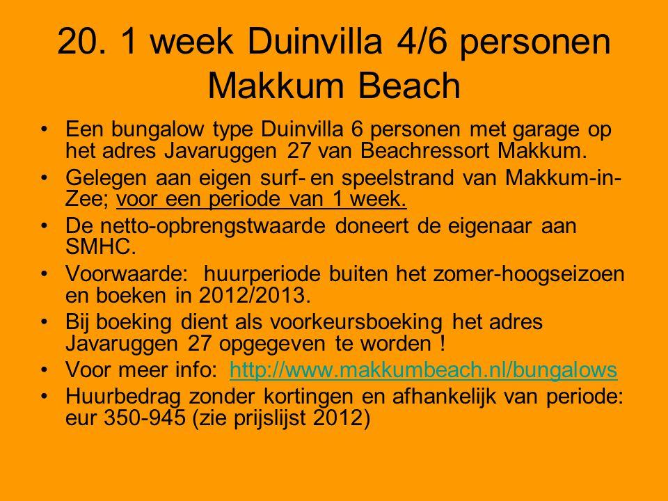 20. 1 week Duinvilla 4/6 personen Makkum Beach
