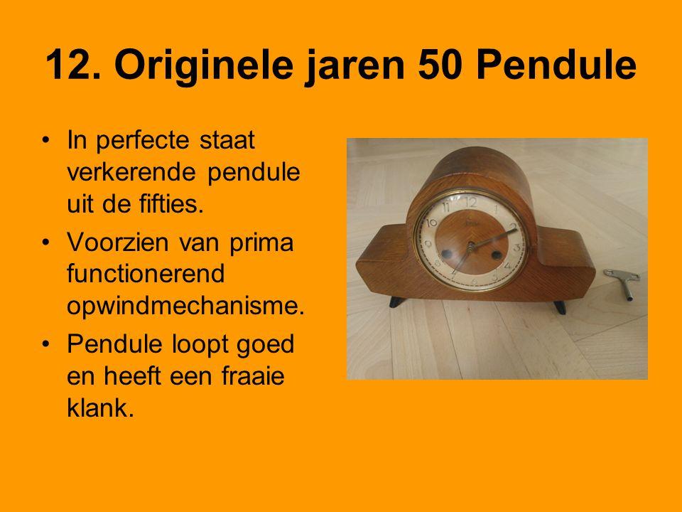 12. Originele jaren 50 Pendule