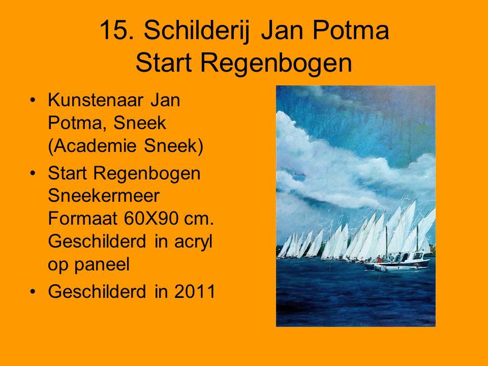 15. Schilderij Jan Potma Start Regenbogen