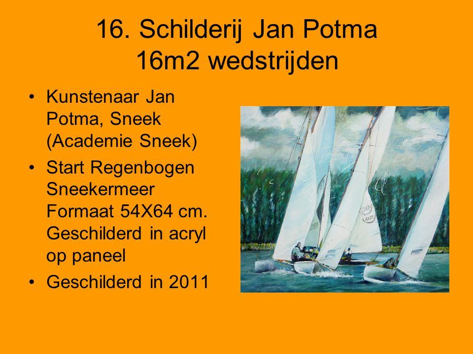 16. Schilderij Jan Potma 16m2 wedstrijden