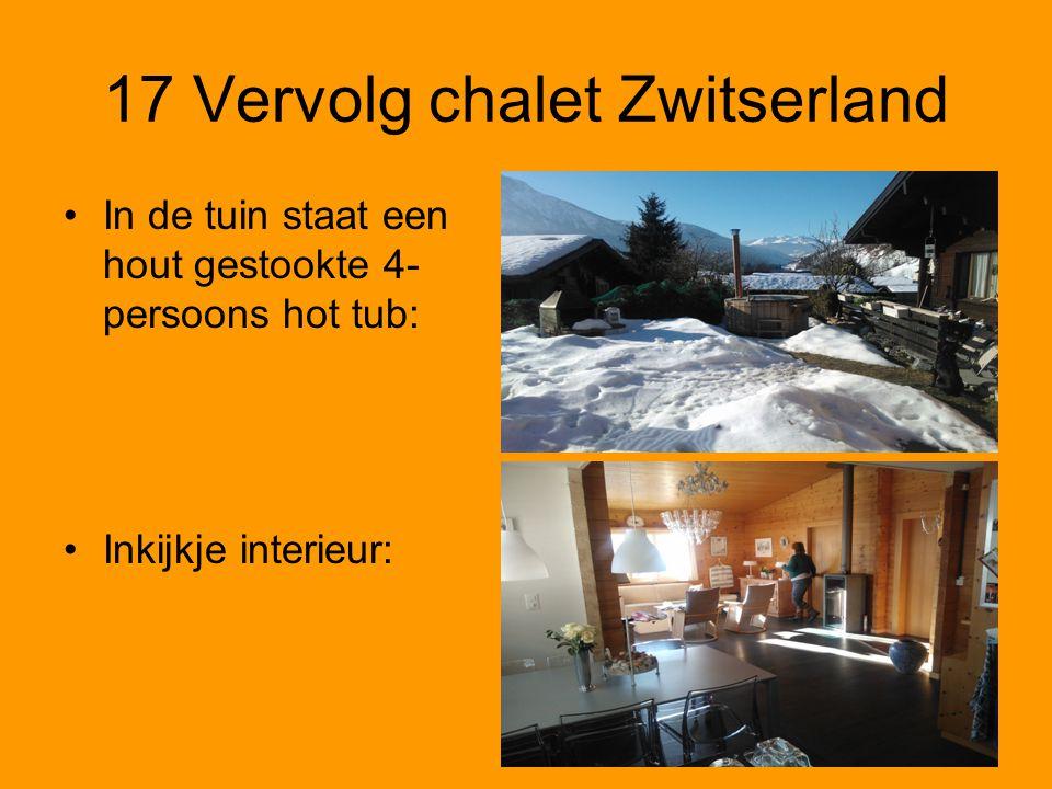 17 Vervolg chalet Zwitserland