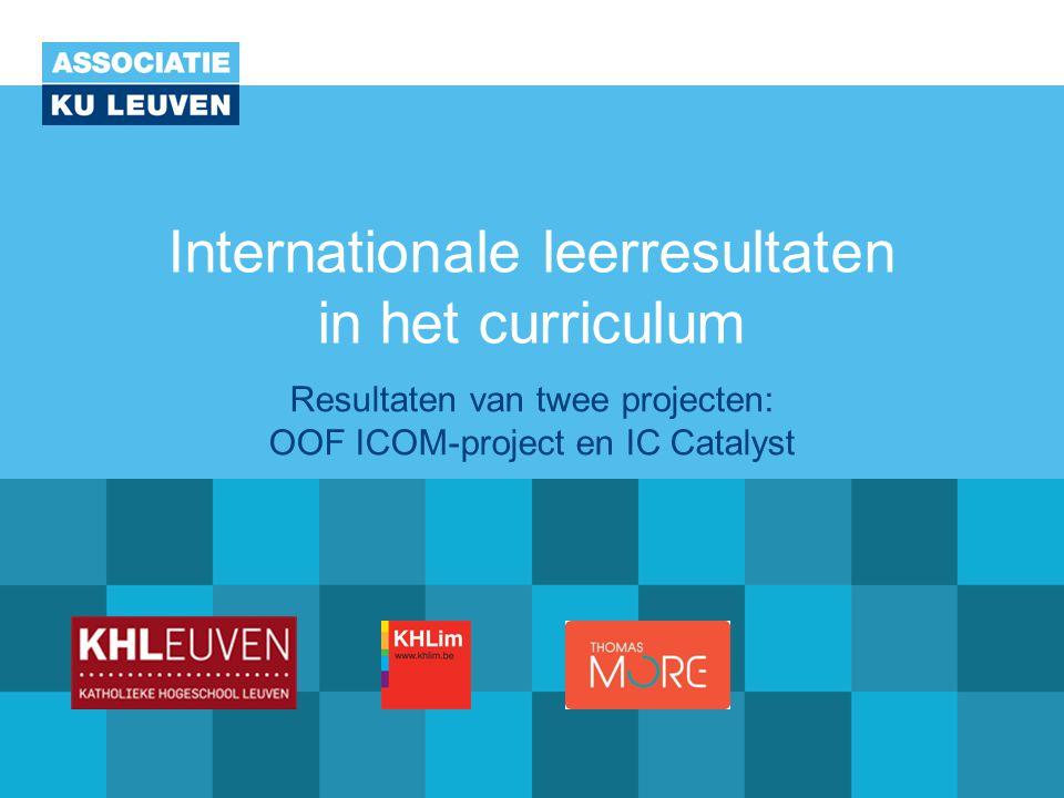 Internationale leerresultaten in het curriculum