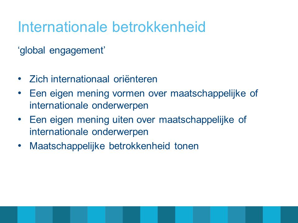 Internationale betrokkenheid