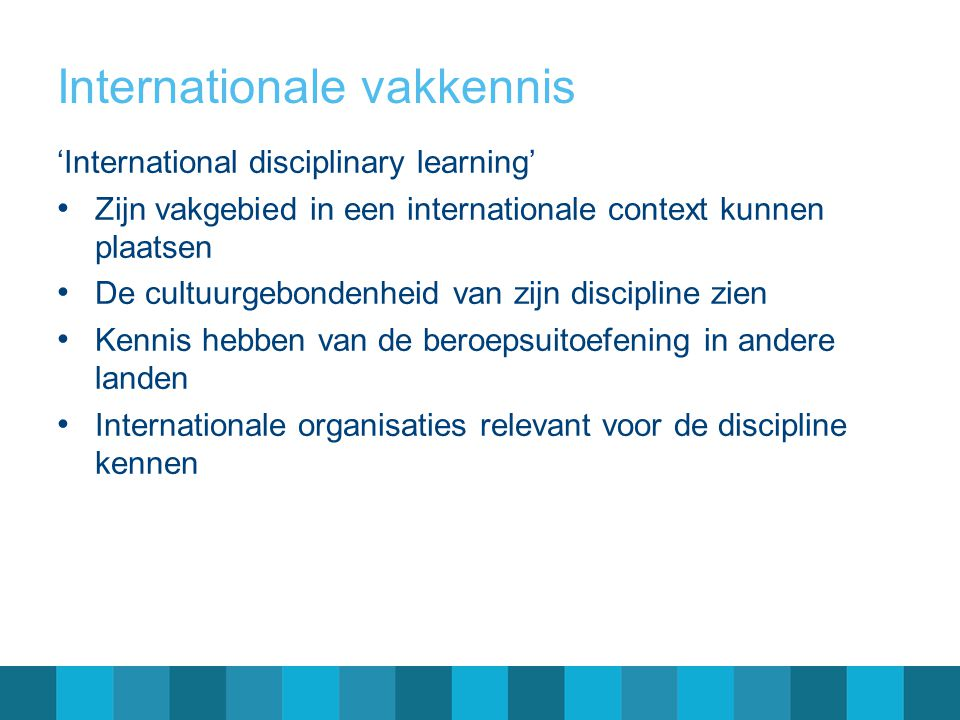 Internationale vakkennis