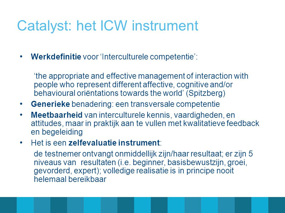 Catalyst: het ICW instrument