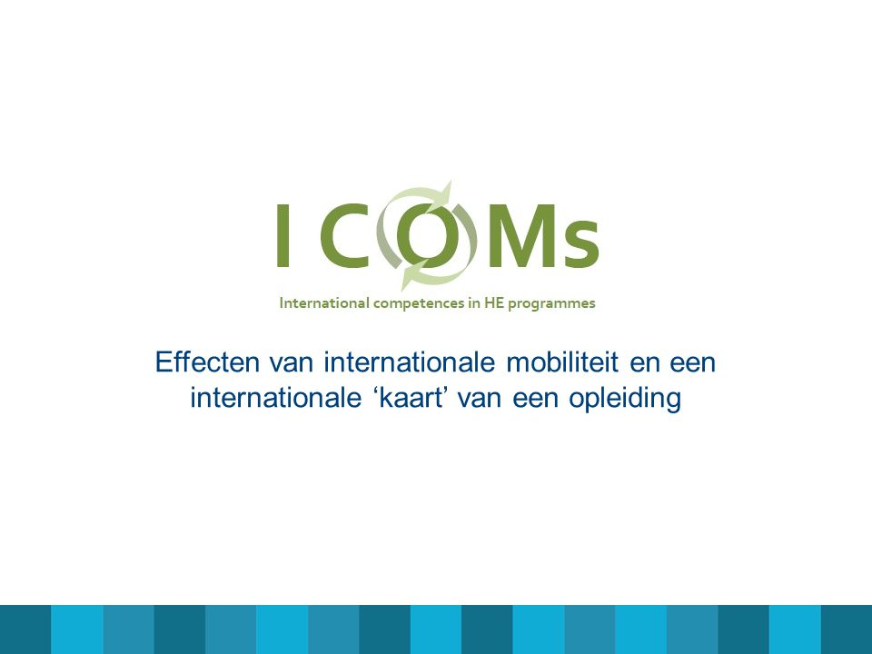 Effecten van internationale mobiliteit en een internationale 'kaart' van een opleiding