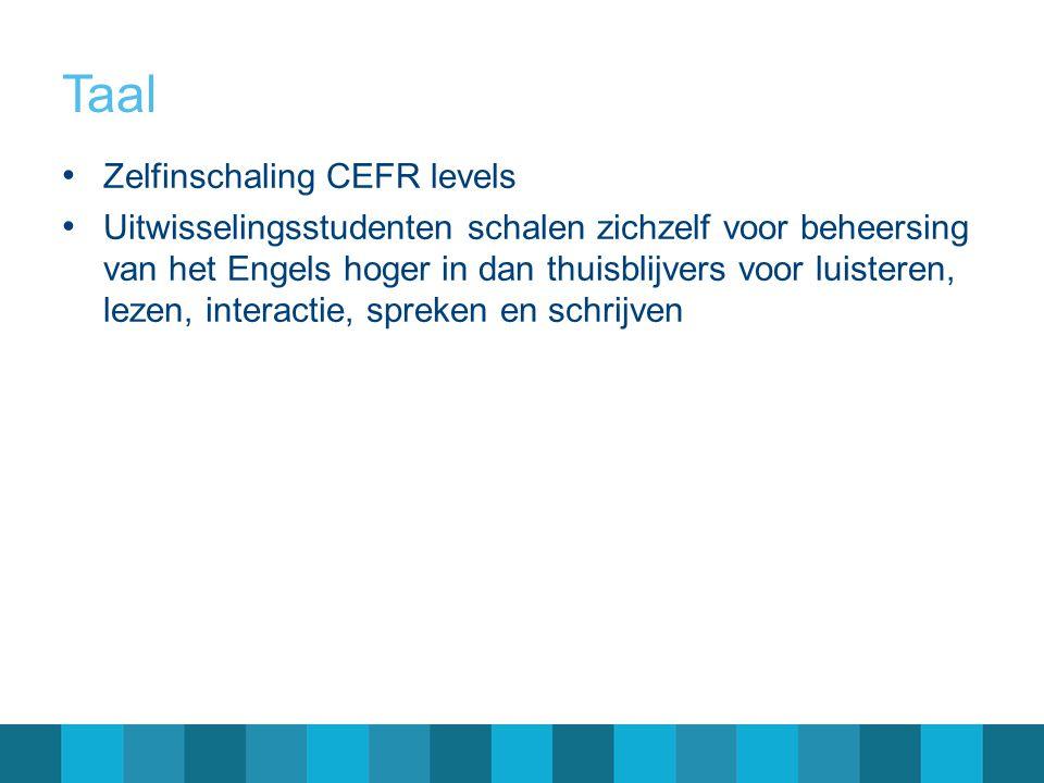 Taal Zelfinschaling CEFR levels
