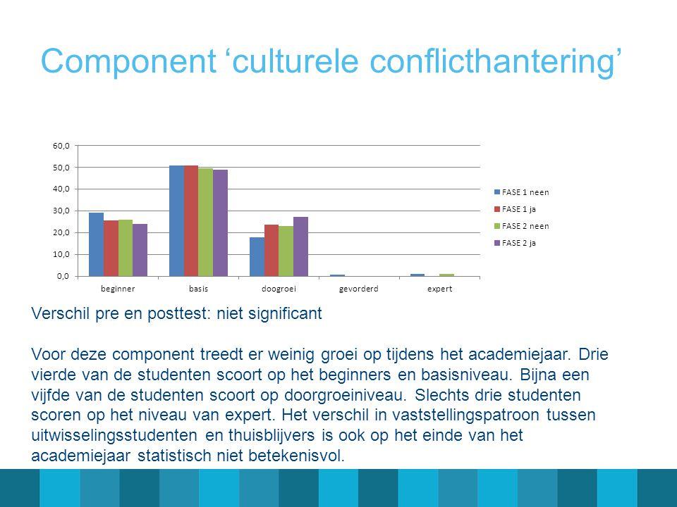 Component 'culturele conflicthantering'