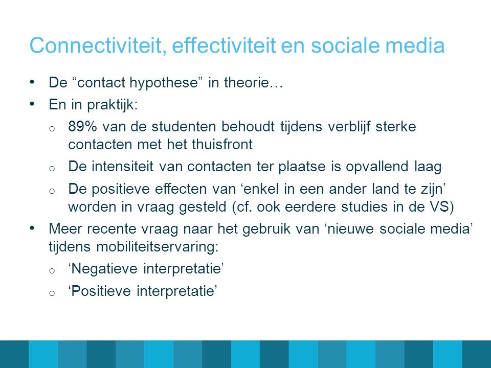 Connectiviteit, effectiviteit en sociale media