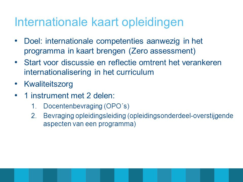 Internationale kaart opleidingen