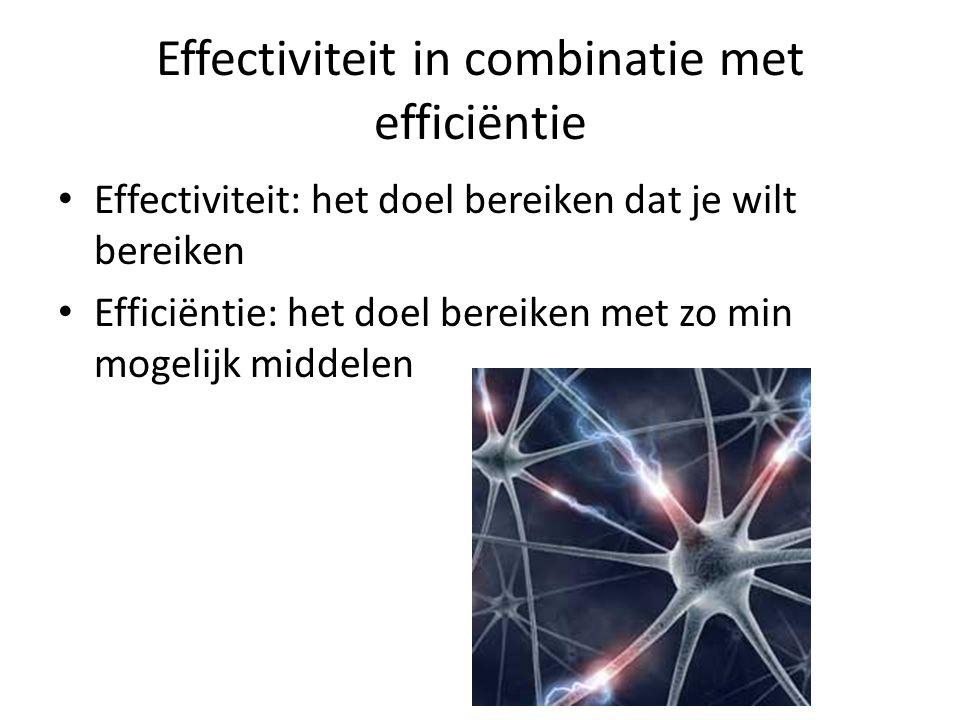 Effectiviteit in combinatie met efficiëntie