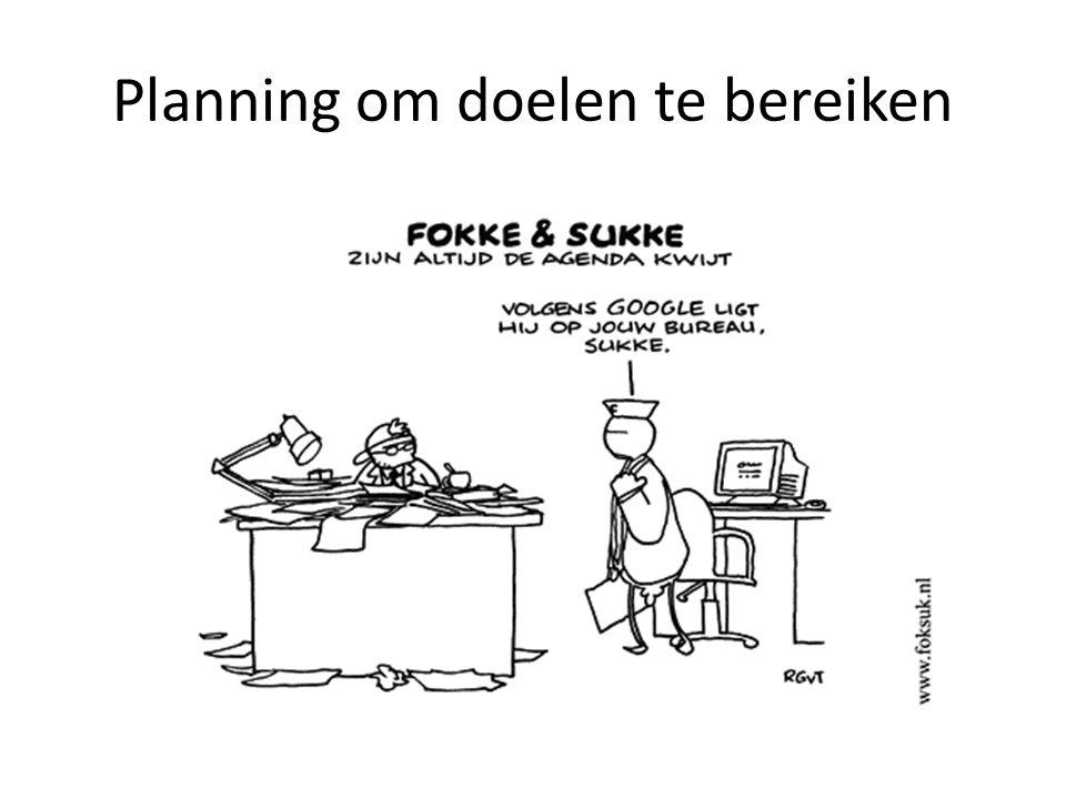Planning om doelen te bereiken